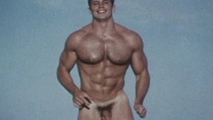 Very hot & athletic gay model poses for the camera naked