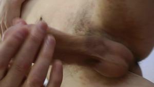 Smoking hot hottie is loving his solo action, filmed in bedroom.