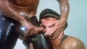 males in leather just love playing with their asses and rod