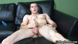 Ben is the latest hottie at CollegeDudes, and we were so happy to get this man out of his clothes and stroking his nice long penis!