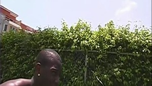Troy happened to see a lovely prospect by the name of Jalin taking up the sun, & he just had to get a taste. Hoping he'd be gettin' some twat, Jalin got a mouth full of black meat. Watch troy push his gayness in Jalin's anus. How does that ebony sack