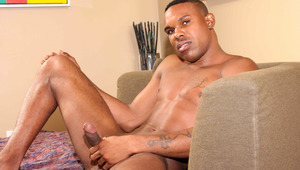 Dayon jams a Fleshjack all up'n'down on his swolled up schlong