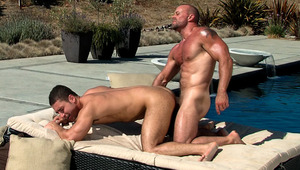 Casey tastes Marc's hole before sliding his hard cock in it!