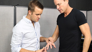 Married lover Jason spends an intense session in the work room with Connor!