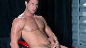Rusty Stevens jerks his dude meat and cums on his motorcycle