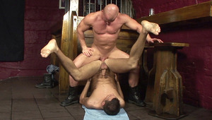 Skinhead unleashes his hard schlong into twinks nice tight hole