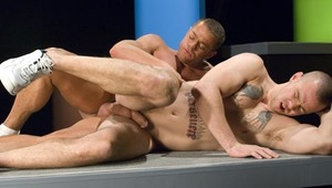 Dillon Crow gets on his knees and swallows Tyler Saint's penis!