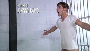 Johnny Rapid is back in custody, bored, and horny as fuck. The randy little bastard can't be blamed with hot guards like Jimmy Johnson and Jack King who don't need a lot of coaxing to get naked and fuck Johnny's incarcerated brains out.