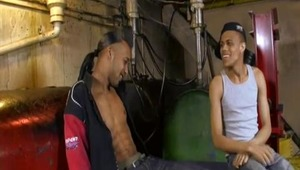 Kidd and True discover a mutual sexual interest in each other while hanging around the body shop. Once that was known, it was only a matter of time before the serious blowing and fucking started. about 35 seconds of time, to be precise.