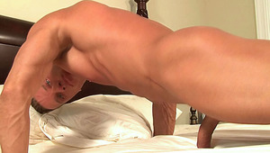 Hot body builder doing amazing stuff in bed with his rod HD