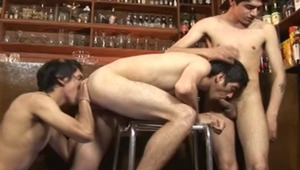 In this scene you get to see then hooking up with bartender Eugene in a hot threeway that will make you salivate uncontrollably.
