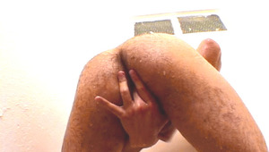 attractive latino jerk off in the shower and put a toy in his ass