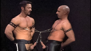 Leather and piercing obsessed hunks fucking in chains