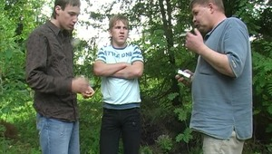 slutty gays meet up in open air to start another hot oral session