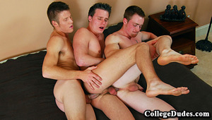 ut three of the hottest CollegeDudes men together and the outcome is some crazy hot action! In this vid Carter Nash, Brody Grant, and newbie Rick McCoy try out a bunch of new fun sexual activities, and they each love every minute of it!