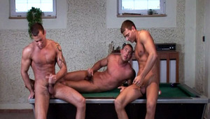 sleazy triplets stimulating their own dong in the same room