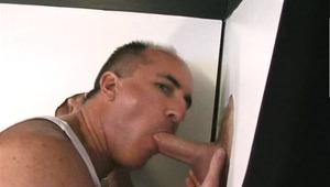 Hot DILF enjoys to lick two enormous dicks and enjoys himself