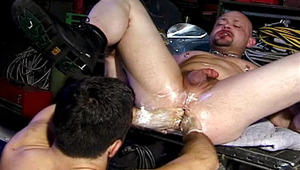 Lucky man gets to feed his hands into Ponyboy Spike's hole