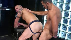 Joshua swallows Tony like it's the last dick he'll ever taste !