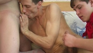 2 twinks experience the long awaited sleazy action with a chunky gay