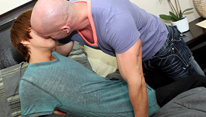 Horrible boss Mitch Vaughn wasn't impressed when he caught his assistant, Kyler Moss, ogling the new man at the office.