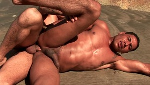 Lovable gays Alber Charles And Anthony Gimenez fingers and sucks their tight assholes outdoors