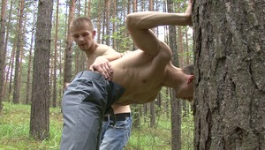 In order for pretty gay man to submit to masters demands, he has to endure loads of hurtful bdsm pleasuring.