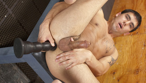 Taking turns fucking each other with large dildos up the behind