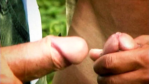 two males Enjoy A Nice Day To Masturbate In Front Of Each Other