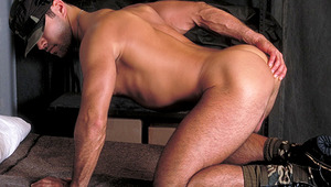 Frank Reaches Around, Plays With His Hole With A thick Dildo