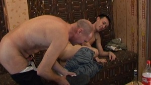 booty fucking begins right away after twink and adult gay get naked