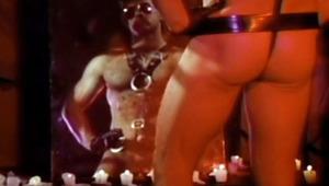 stud in leather masturbates himself in a hot secret place