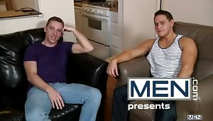 Sebastian Keyes offers up two very willing holes for Jason Goodman's first gay porn scene!