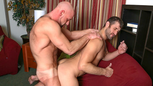 CJ & Dirk eagerly explore each others' hairy muscular bodies