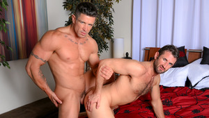 Trenton bends CJ over the bed & opens his begging behind up