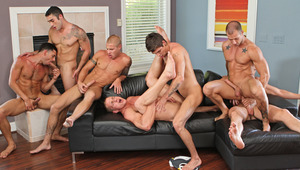 Don't miss this must-see orgy with your fave Next Door men