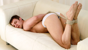 Hot guy Finds His dong Tied On A Leash & Can't Masturbate!