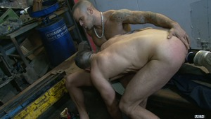 Jay Roberts finds himself with an unexpected £600 repair for his vehicle but not enough cash to cover the bill. The mechanic, hot & horny Damien Crosse, is going to get Jay to pay up one way or another and gets the ball rolling by getting his dick sucked