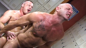 horny jock gets his ass blown by a hot cop with yummy rod