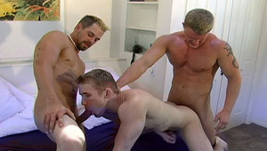 After a hard fuck in his butt, Mason is drenched in jizz!