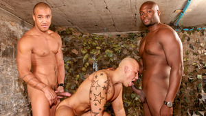 Jordano gets boned by gruff military studs Yates & Kiern
