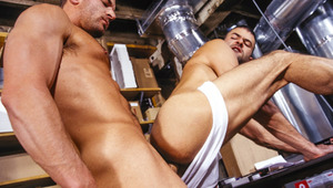the sexy delivery guy blows meat and gets his behind plowed
