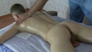 Horny doctor is arousing twinks slutty needs with his gentle body massage.