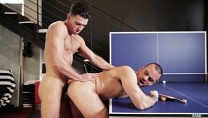"""Voyeur"" is a thrilling four part series from Men.com's subsite, Men of UK featuring a man obsessed with Paddy O'Brian.  In part one, Damien Crosse gets his hot ass drilled by Paddy while the voyeur secretly watches."
