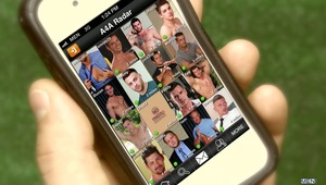 Rocco Reed is in need of a good ass pounding and with his pesky wife out of the way for a while, he logs into Adam4Adam's mobile application called Radar. After a few hurried messages with nearby Mike De Marko, a public hookup is arranged! When Mike enter
