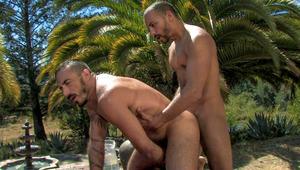 Alessio Romero blows the water from Antonio's rod