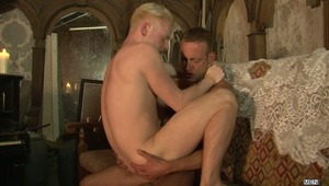 Part 2 of Supernatural features some campy horror fun before getting to the action. With adrenaline running high Johnny Kingdom and Andro Maas fuck like there's no tomorrow.  The oral fun is intense and both take turns getting their tight British asses po