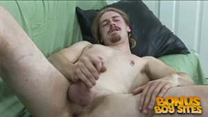 Watch this hot update as Clay strokes his cock until he cums all over his chest.