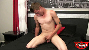 Tristan Stiles might be a newbie, but is ready to play! He's nervous at first, but when he pulls that pud he gets into it. Even fingers his virgin guy hole. His load is copious, wet and juicy. Tristan tastes the jizz and is impressed with the flavor.