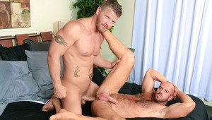 Matt's guttural moans show how he likes every inch of Jeremy